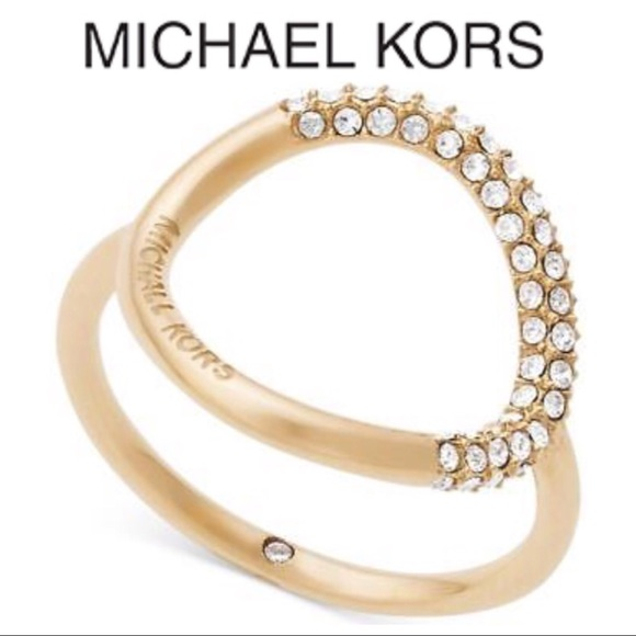 1ece8975997b7 Michael Kors Brilliance Banded Circle Ring 7